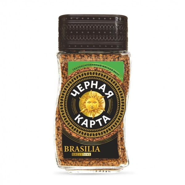 Кофе Черная Карта EXCLUSIVE BRASILIA 95 г. ст/б.