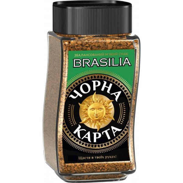 Кофе Черная Карта EXCLUSIVE BRASILIA 190 г. ст/б.