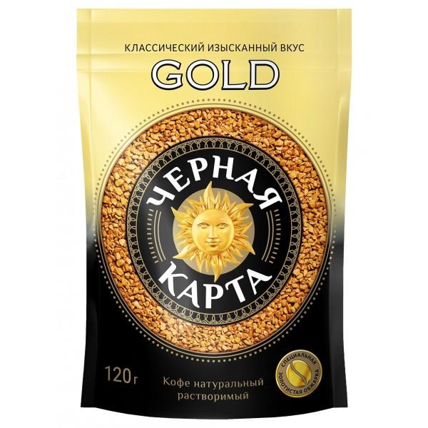 Кофе Черная Карта GOLD, 120 г. зип пакет