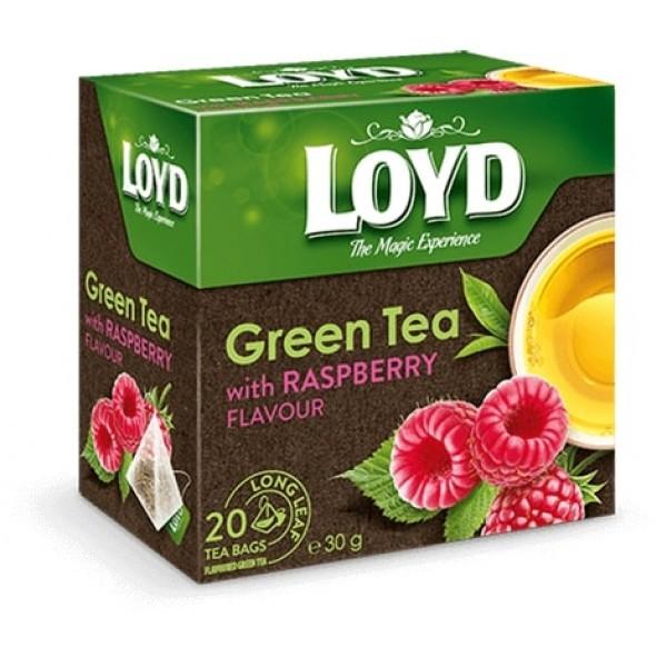 Чай Loyd зеленый с Малиной.