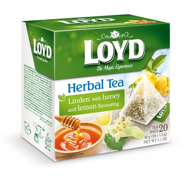 Чай Loyd Липовый с медом и лимоном.