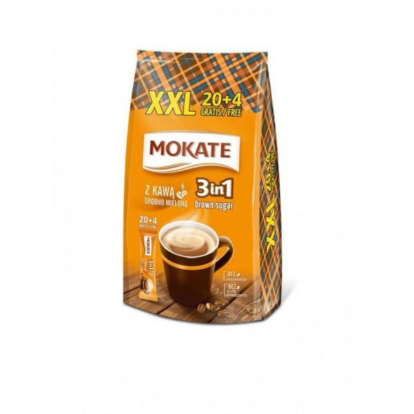 МОКАТЕ 3в1, Brown Sugar (с тростниковым сахаром), 17г*24 шт.